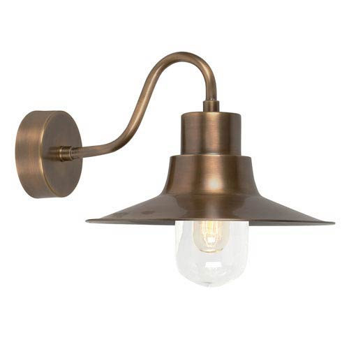 Sheldon Aged Brass One-Light Outdoor Wall Sconce