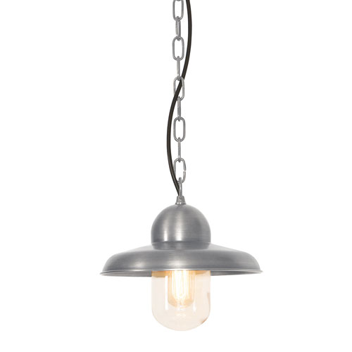 Elstead Lighting Somerton Antique Nickel One-Light Outdoor Pendant