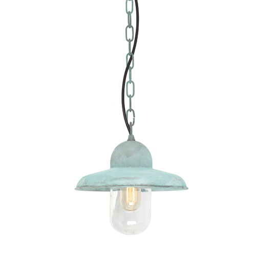 Somerton Verdigris One-Light Outdoor Pendant