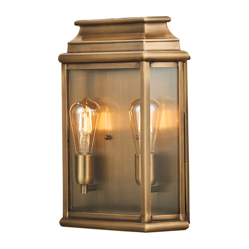 St Martins Brass Two-Light Outdoor Wall Lantern