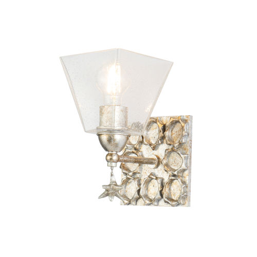 Star Silver Leaf with Antique One-Light Wall Sconce