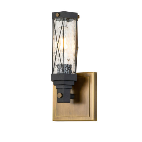 Abbey Antique Brass One-Light Wall Sconce