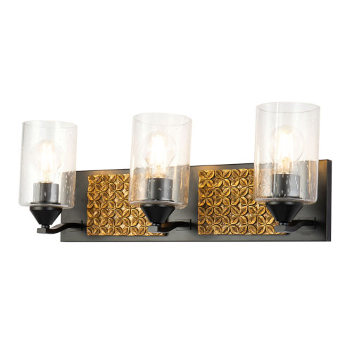 Arcadia Matte Black Bronze Three-Light Bath Vanity