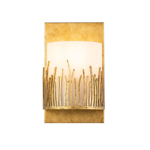 Sawgrass Gold Leaf with Antique One-Light Wall Sconce