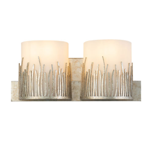 Sawgrass Silver Leaf with Antique Two-Light Bath Vanity