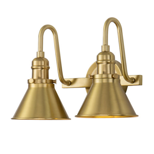 Provence Antique Brass Two-Light Bath Vanity