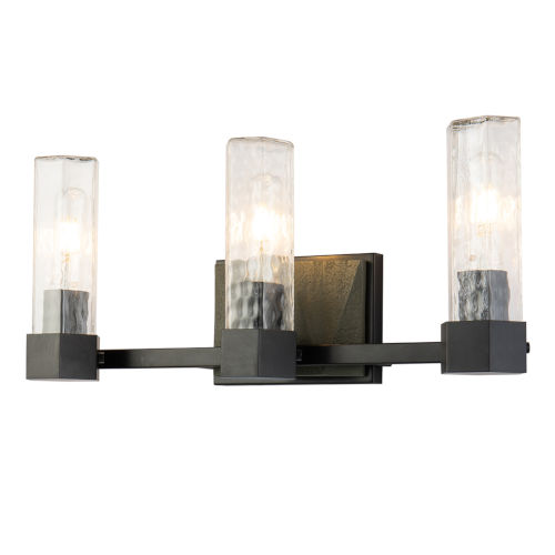 Navarre Black Grey Three-Light Bath Vanity