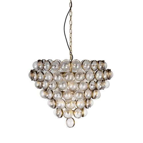 Bouquet Aged Brass Eight-Light Chandelier