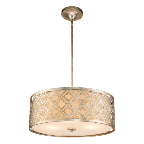 Arabella Antique Silver Three-Light Pendant