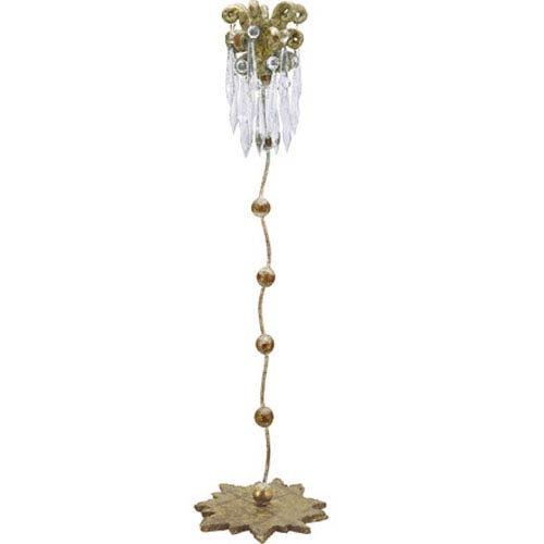Venetian Distressed Gold 23.5-Inch Candlestick