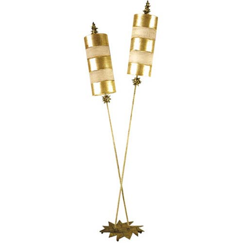 Flambeau Lighting Nettle Luxe Gold Two-Light Floor Lamp