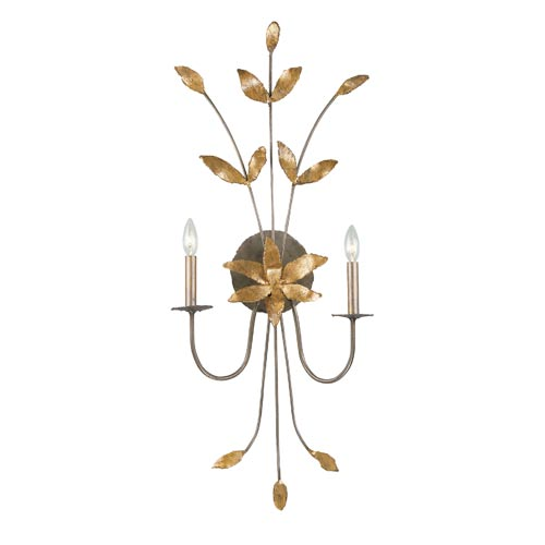 Simone Two-Light Gold Wall Sconce