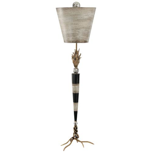 Flambeau Black and Creme Table Lamp