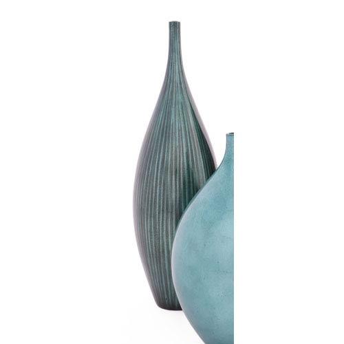Hebi Arts Iridescent Blue Gray Medium Bud Vase