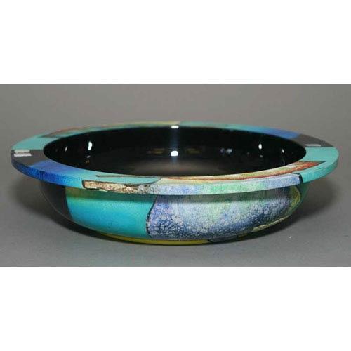 Renaissance Lacquer Bowl - Blue