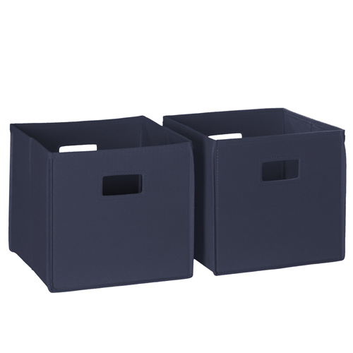 Navy 2 Piece Folding Storage Bins
