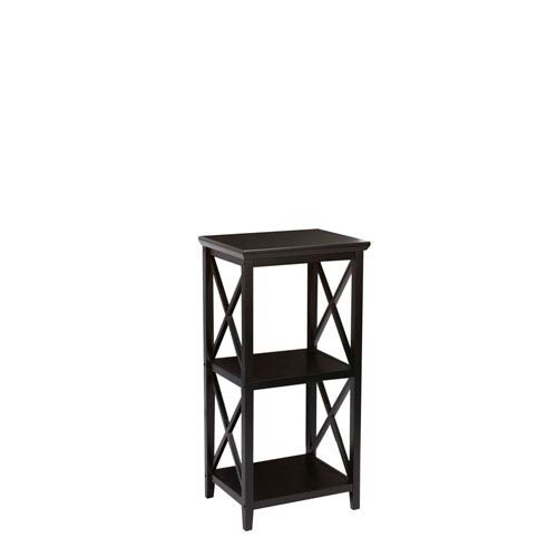 RiverRidge Home Products X-Frame Espresso 3-Shelf Storage Tower