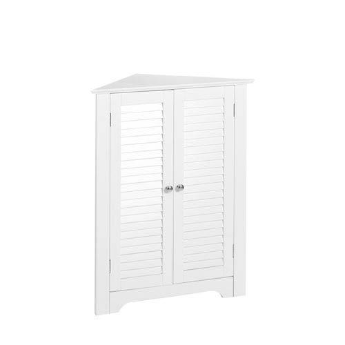 Ellsworth White 3-Shelf Corner Cabinet