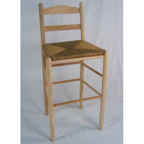 Dixie Seating Company Unfinished Ladder Back Bar Stool 30 Inch
