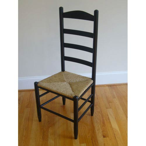 Dixie Seating Company Black Ladder Back Chair