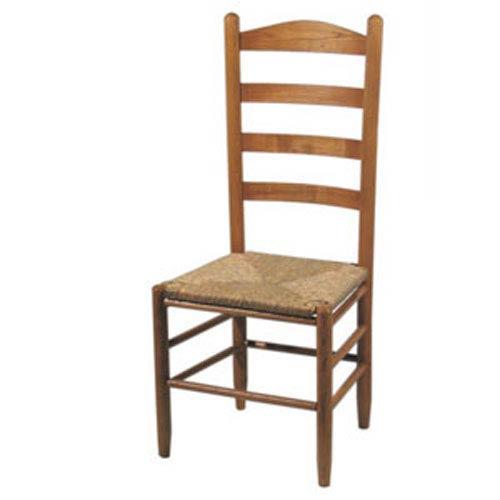 Dixie Seating Company Medium Oak Ladder Back Chair