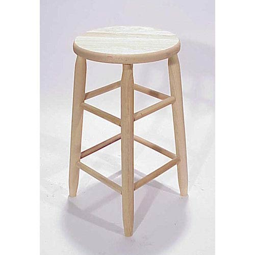 Dixie Seating Company Uned Round Top Backless Barstool 24 Inch