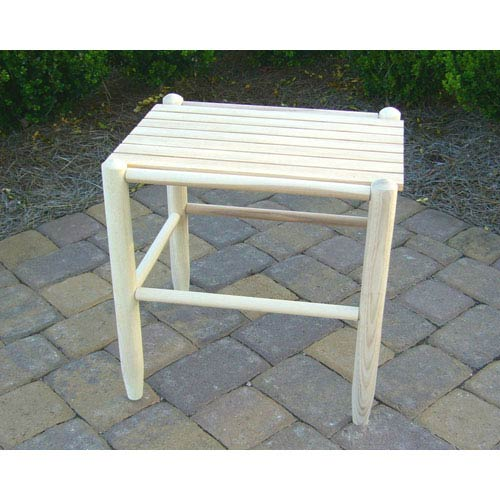 Unfinished Rocker Side Table