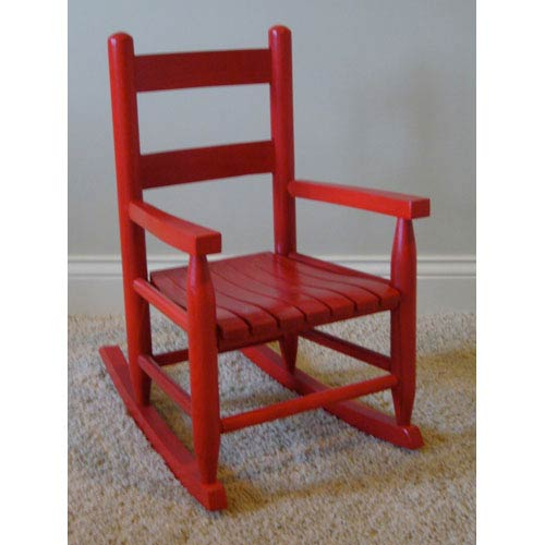 Dixie Seating Company Red Child Rocker