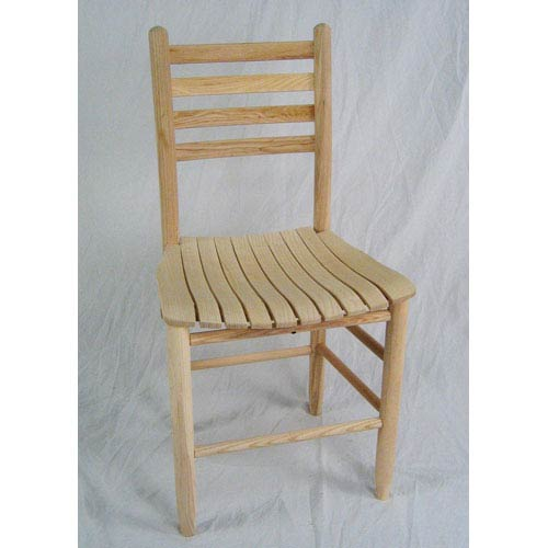 Unfinished Adult Slat Seat Chair