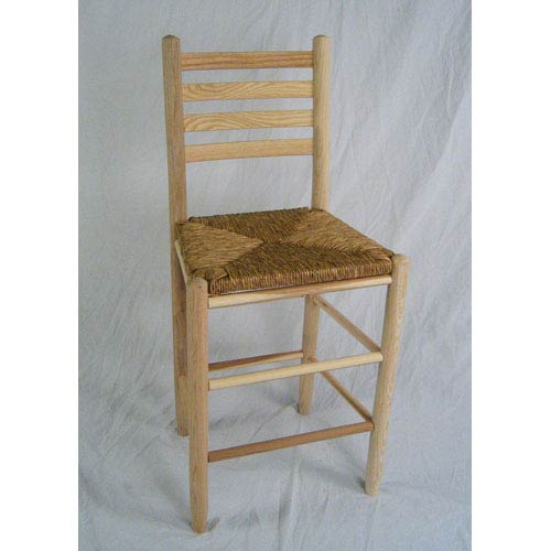 Dixie Seating Company Uned Ladder Back Barstool 24 Inch