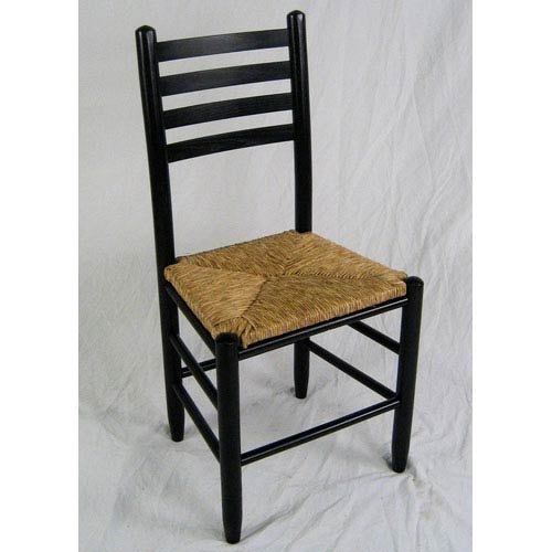 Dixie Seating Company Black Ladder Back Chair ...