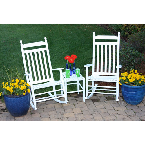 White Model 410 Rockers (Set of 2) with Table