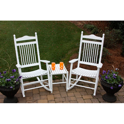 Dixie Seating Company White Model 467 Rockers (Set of 2) with Table