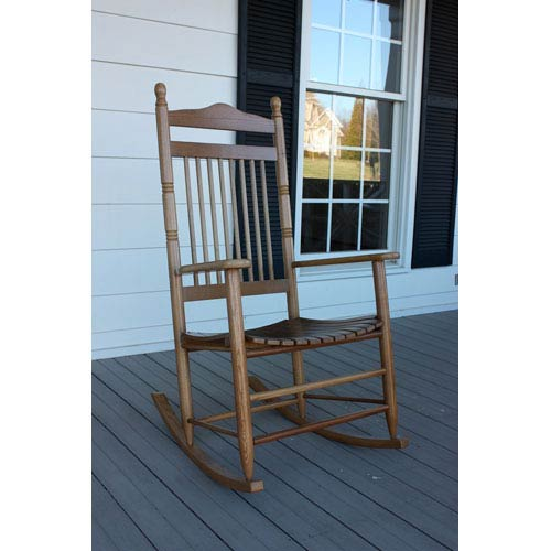 Medium Oak Adult Rocker