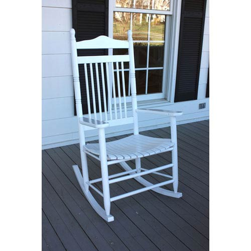 Dixie Seating Company White Adult Rocker