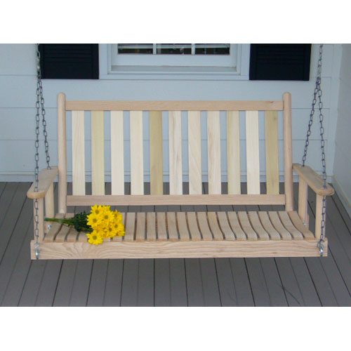 Dixie Seating Company Unfinished Porch Swing