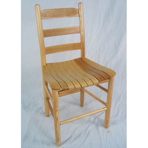 Natural Adult Slat Seat Chair