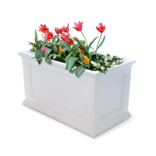 Fairfield Black 20x36 Inch Patio Planter