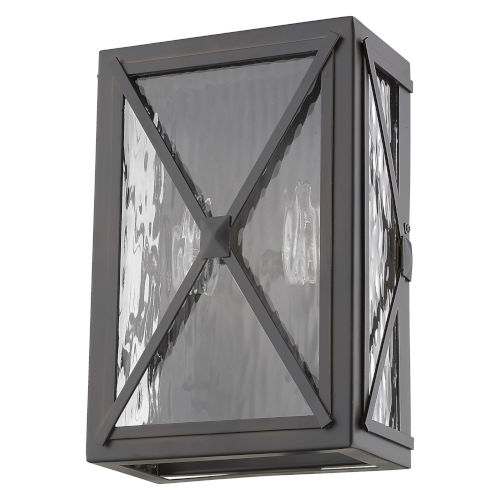 Brooklyn Oil Rubbed Bronze Two-Light Outdoor Wall Mount