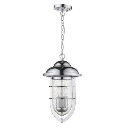 Dylan Chrome Three-Light Outdoor Hanging Pendant