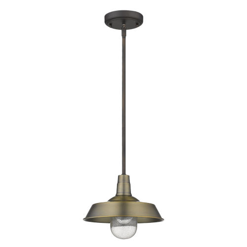 Burry Antique Brass One-Light Outdoor Convertible Pendant