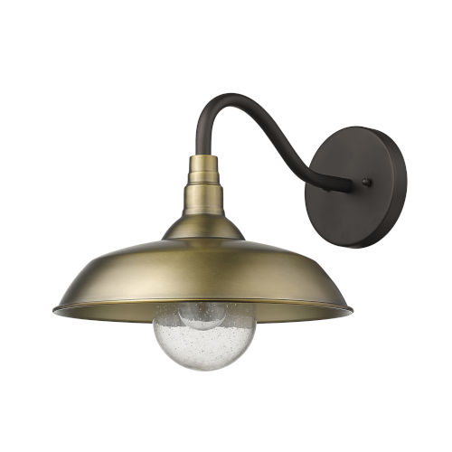 Burry Antique Brass One-Light Outdoor Wall Sconce