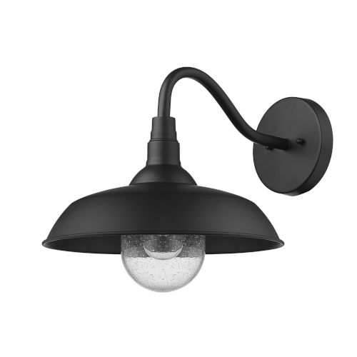 Burry Matte Black 14-Inch One-Light Outdoor Wall Sconce