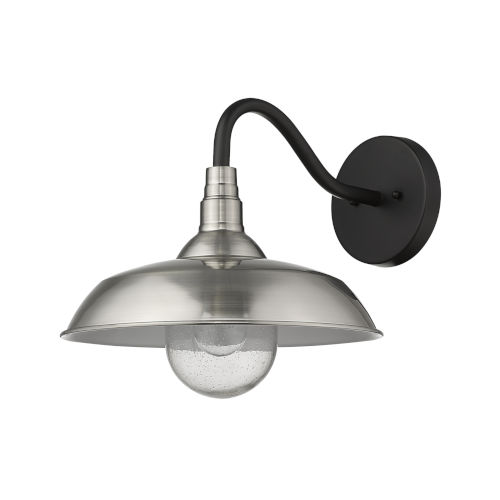 Burry Satin Nickel One-Light Outdoor Wall Sconce