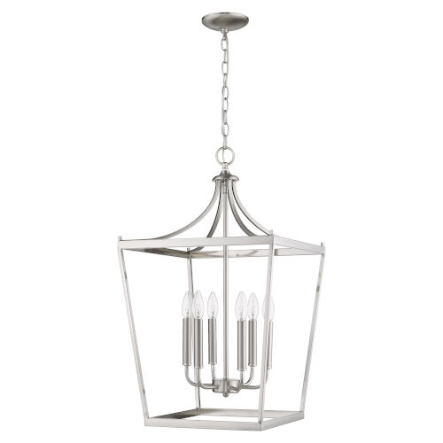 Kennedy Satin Nickel Six-Light Chandelier