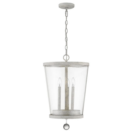 Callie Country White Three-Light Pendant