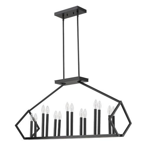 Luca Matte Black 14-Light Pendant