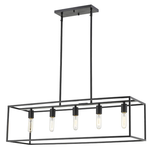 Cobar Matte Black Five-Light Pendant