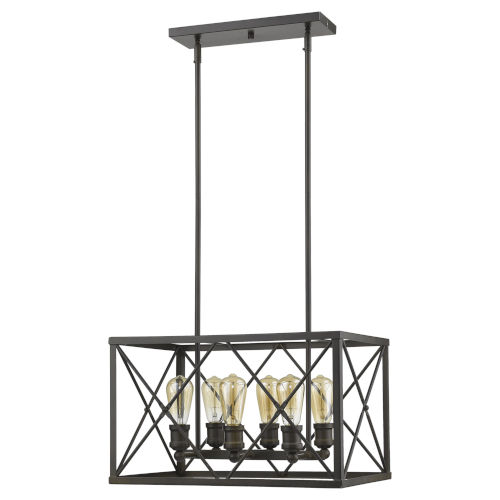 Brooklyn Oil Rubbed Bronze Six-Light Pendant