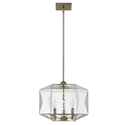 Loft Brass Three-Light Pendant